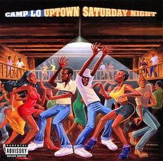 """Camp Lo- Uptown Saturday Night the hip hop classic """"Luchini (AKA This Is It)"""" and loved the cover equally. Of course it's a modern adaption of Marvin Gaye's """"I Want You"""" cover (see below). Rap Albums, Hip Hop Albums, A Tribe Called Quest, One Hit Wonder, Hip Hop Videos, Music Album Covers, Marvin Gaye, Hip Hop Fashion, Saturday Night"""