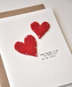 手作りのバレンタインカード♡真っ赤なハートが映える大人なデザイン!