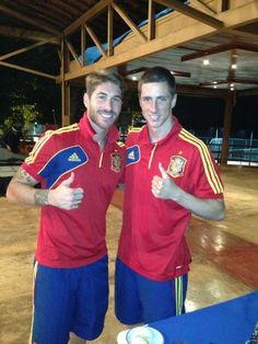 Photo of Fernando Torres & his friend football player   Ramos Sernando - work