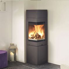 Stoves | Wood & Multifuel | Nordpeis Quadro 2T Corner Wood Burning Stove
