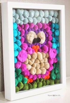 Repeat Crafter Me: Pom Pom Owl Art