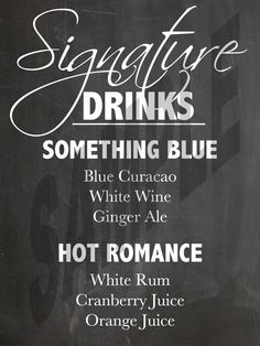 #Chalkboard #Wedding Signature Drink Sign by WeddingsByJamie on Etsy