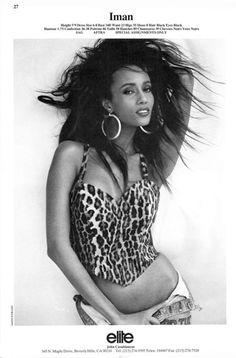 black women models for club flyers Iman Model, Iman And David Bowie, Black Supermodels, Model Comp Card, Black Royalty, Vintage Black Glamour, Figure Poses, Female Models, Women Models