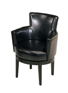 Armen Living 247 Black Leather Swivel Club Chair - The price dropped 7% #deals #frugalliving #savingmoney #sales #bargains