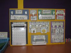 Great makeshift calendar set if you don't want to buy one for the classroom! Blogging, Teaching and Second Grade... Oh My!