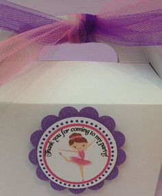Ballerina favor tags . Ballerina party by karlaspartycreations