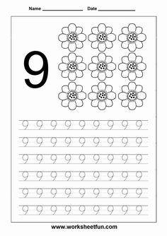 These preschool math worksheets will set young learners up for success with key math skills, such as counting, addition and subtraction. Numbers Kindergarten, Numbers Preschool, Kindergarten Math Worksheets, Preschool Letters, Preschool Kindergarten, Math Literacy, Printable Math Worksheets, Tracing Worksheets, Worksheets For Kids