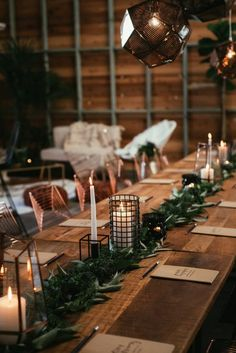 moern copper and black industrial wedding design