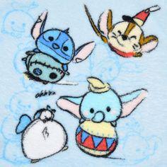 [Official] Disney Store | guest towel TSUM TSUM (Tsumutsumu) Blue Disney character: | Disney Goods Gift of official mail order site Disneystore