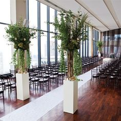 Wild Ceremony Floral Arrangements | Kristin Spencer Photography | Theknot.com