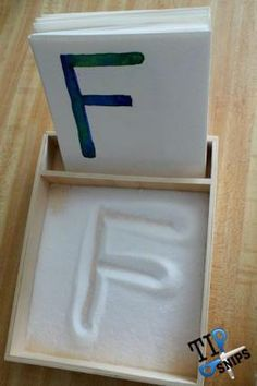 Learning the alphabet cards and sand pit // hands on educational activities