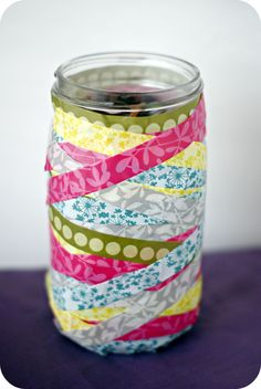 Washi Tape Jar - Think Crafts by CreateForLess Crafty Projects, Sewing Projects, Paper Crafts, Diy Crafts, Simple Crafts, What Is Washi Tape, Paper Flower Arrangements, Diy Sewing Table, Sewing Room Storage