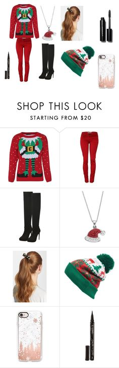 """""""Christmas Eve!"""" by cabre8500 on Polyvore featuring L. Erickson, Collection XIIX, Casetify, Smith & Cult and Bobbi Brown Cosmetics"""