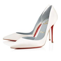9518726d8a94 Christian Louboutin Iriza 100mm Off White Satin Women Special-Occasion Off  White Shoes