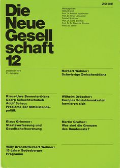 Die Neue Gesellschaft 12 - 1974 - A scan of an original copy of Die Neue Gesellschaft, a political magazine that was art directed by Helmut Schmid