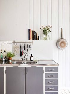Scandinavian interior design | What I love about this is how stunning a utilitarian modern kitchen can look. The basics just shine