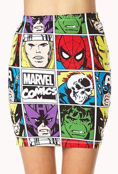 Marvel Comics Mini Skirt | FOREVER21 - 2000127455
