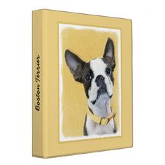 #Boston Terrier Binder - #boston #terrier #puppy #dog #dogs #pet #pets #cute #bostonterrier