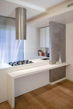 Cucina con isola - Fabrika Home Solutions Macerata Kitchen Interior, Kitchen Design, Modern Kitchen Cabinets, Kitchen Decor, Interior Minimalista, Open Plan Kitchen, Kitchen White, Cuisines Design, Home Remodeling