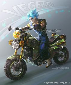 Today(8/10)is the Vegetto day!! and DB style motorcycle design by me