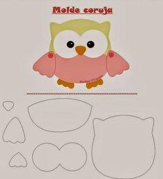 Friendly Felt: Template Owl Boutique D 'Caroline Owl Patterns, Applique Patterns, Craft Patterns, Owl Applique, Felt Owls, Felt Animals, Boutique D Caroline, Motifs D'appliques, Sewing Crafts