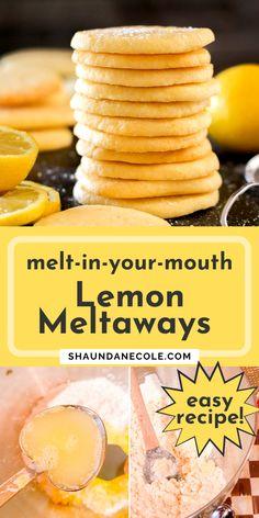 Lemon Juice Benefits, Cookie Recipes, Dessert Recipes, Dessert Ideas, I Am Baker, Easy Homemade Recipes, Lemon Uses, Cookies Ingredients, Lemon Recipes