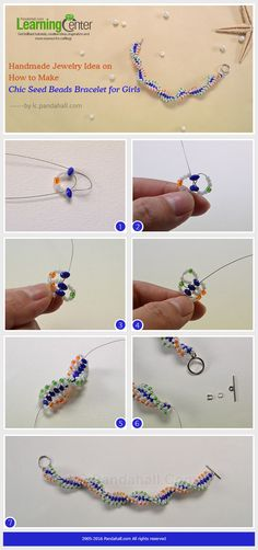 Handmade Jewelry Idea on How to Make Chic Seed Beads Bracelet for Girls from…