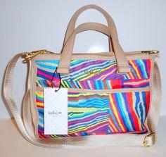 NEW NWT KIPLING Tarah Handbag Satchel Crossbody Multi Color Print Nylon HB6709 #Kipling #SatchelCrossbody