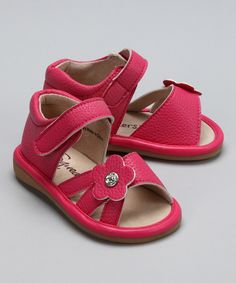 Petunia #Pink Ava Sandal from Squeakers on #zulily