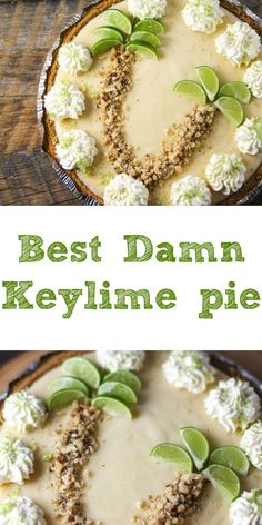 This key lime cheesecake is a fun spin on the key lime pie. It's so thick and creamy! Did I mention it has the perfect balance of sweet and tangy? As far as the perfect summer dessert, this key lime cheesecake is the total package. Key Lime Desserts, Easy Desserts, Delicious Desserts, Plated Desserts, Lime Recipes, Sweet Recipes, Key Lime Pie Rezept, Best Key Lime Pie, Key Lime Pie Bars