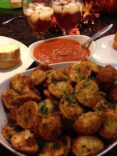 Fried cheese ravioli!