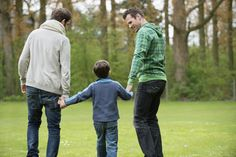 Explain that gay families are less common than the usual mommy/daddy family, but they're every bit as valid.