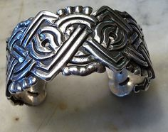 Early William Spratling Cuff Bracelet, Sterling, Mexico, Taxco