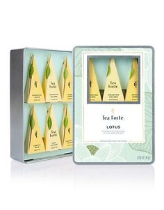 Tea Forte Six-Piece Lotus Tea Tin Women's