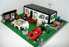 "https://flic.kr/p/8q5Wek | Home Sweet Home | Well, here it is:  My first Town/City MOC.  A Trailer.  Town displays are often a bit too ""Pleasantville"" for my tastes, so I had been thinking of doing a trailer park for some time.  Hope you all enjoy the results."