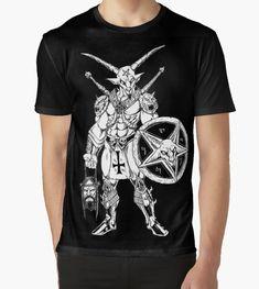 Artwork by Alaric Barca Metal T Shirts, Baphomet, Artwork, Mens Tops, Products, Fashion, Moda, Work Of Art, Auguste Rodin Artwork