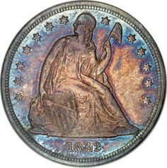 1842 Seated Liberty Dollar