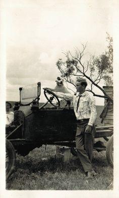 Bill and his dog - 1921 - (Via)