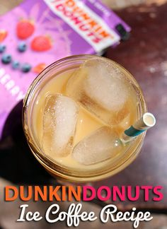 Iced Strawberry Shortcake Coffee...sounds interesting!! #Dunkin Dougnuts #coffee, #icedcoffee