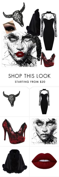 Devils daughter dark souls contest by fasionista310 on Polyvore featuring Harrods, Dolce&Gabbana, Lime Crime and Dot & Bo