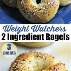 These 2 Ingredient Bagels are a game changer. Just 3 points each on the Weight Watchers Freestyle program. 2 Ingredient Dough makes the most yummy bagels! Weight Watchers Pizza, Weight Watchers Breakfast, Weight Watchers Desserts, Weigh Watchers, Ww Recipes, Cooking Recipes, Healthy Recipes, Bread Recipes, Healthy Breakfasts