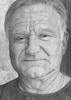 Robin Williams illustration by Stavros Damos, via Behance