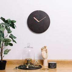 커피찌꺼기로 만든 무소음 벽시계 coffee grounds upcycle product espresso wall clock www.milk-tree.com