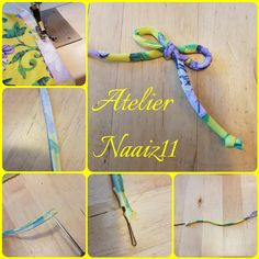 tutorial voor het maken van een spaghettibandje en een strikje. door Atelier Naaiz11