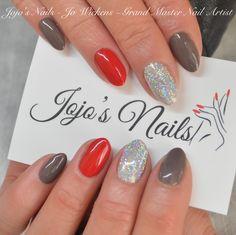 CND Shellac Manicure with Rockstar accent nails - By Jo Wickens @ Jojo's Nails - www.jojosnails.com