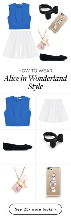 """""""Alice in wonderland"""" by emmathewhale on Polyvore featuring Marc by Marc Jacobs, Alice + Olivia, RED Valentino and Casetify"""