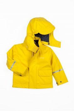 Yellow rain coat - Reflex
