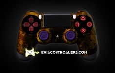 Custom PlayStation 4 photo PS4Controller-OrangeFire-2.jpg  #PS4Controller #PlayStation4Controller #Dualshock4 #CustomPS4Controller #moddedPS4Controller #CustomController #moddedcontrollers