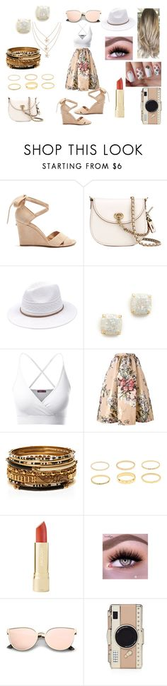 """First Date: Spring Lunch & Ice-Cream"" by roxy-crushlings ❤ liked on Polyvore featuring Aquazzura, Coach, Kate Spade, Doublju, Fendi and Amrita Singh"