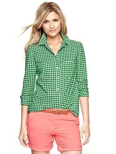 Shrunken boyfriend gingham shirt | Gap
